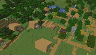 Ключ генерации в Майнкрафте на большую деревню