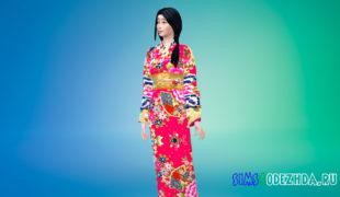 Японская одежда Симс 4