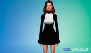 Готическая одежда Симс 4