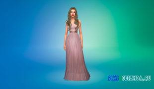 Симс 4 Длинные платья